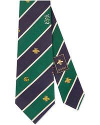 Gucci Cravate en soie à motif symboles - Vert