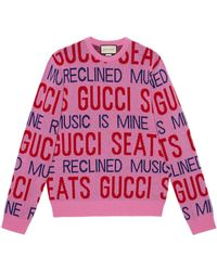 Gucci 100 pullover aus wolle - Pink
