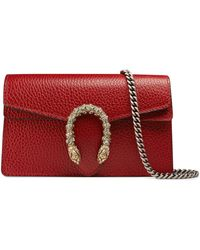 Gucci Dionysus super-mini-tasche aus leder - Rot