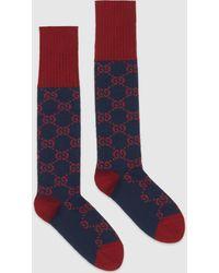 Gucci Socken mit GG-Muster - Blau