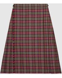 Gucci Shorts aus Wolle mit Schottenkaro - Mehrfarbig