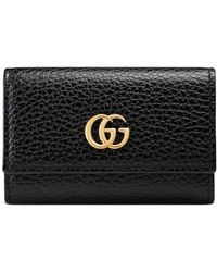 81ec0bbeee1c Gucci - GG Marmont Leather Key Case - Lyst