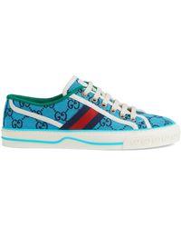 Gucci Tennis 1977 GG Multicolor Damensneaker - Blau