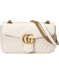 Gucci Mini sac GG Marmont matelassé - Blanc