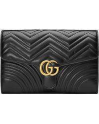 Gucci GG Marmont Clutch - Schwarz