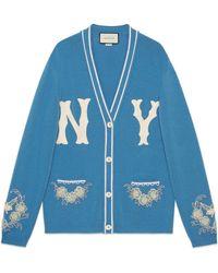 Gucci - Cárdigan de lana con parche NY Yankees - Lyst