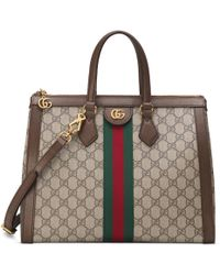 Gucci Ophidia GG Medium Tote Bag - Natural