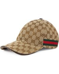Gucci Web Stripe Gg Logo Baseball Cap - Natural