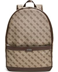 Guess Kevin Logo-print Backpack - Brown