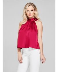 Guess - Solid Perfect Halter Top - Lyst