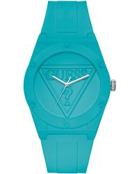Guess - Iconic Turquoise Sport Watch - Lyst