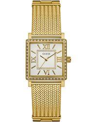 Guess - Dress Analog W0826l2 Goldtone Bracelet Watch - Lyst