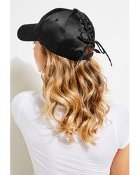 Guess - Satin Lace-up Baseball Cap - Lyst