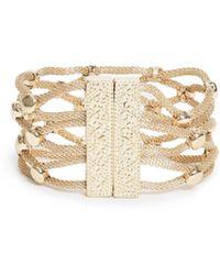 Guess - Liza Gold-tone Wrap Bracelet - Lyst