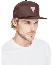 Guess | Ryan Logo Flat Brim Baseball Hat | Lyst