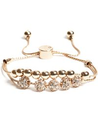Guess - Brilla Gold-tone Slider Bracelet - Lyst