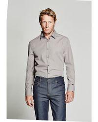 Guess - Diamond-print Slim-fit Shirt - Lyst