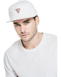 Guess | Ryan Flat Brim Baseball Hat | Lyst