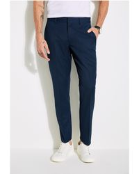 Guess - Grid Slim Oxford Pants - Lyst