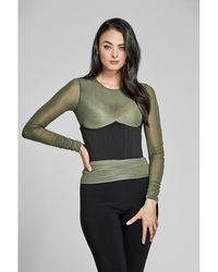 Guess - Cropped Under-bust Corset Top - Lyst