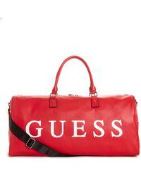 Guess - Saffiano Logo Duffel Bag - Lyst