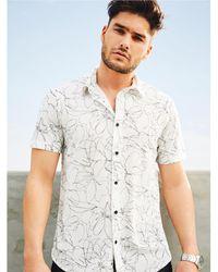 Guess Floral Mesh Shirt - Multicolour