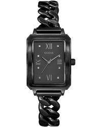 Guess - Black Rectangle Watch - Lyst