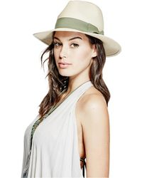Guess - Straw Fedora - Lyst