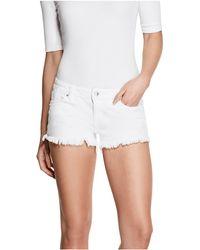 Guess Selene Denim Shorts - White