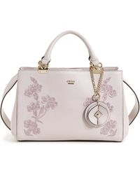Lyst - Guess Kaia Girlfriend Satchel in Red bcfc52cc3c4