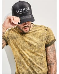 Guess - James Denim Mesh Baseball Cap - Lyst