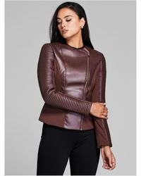 Guess - Moto-zip Texturized Jacket - Lyst