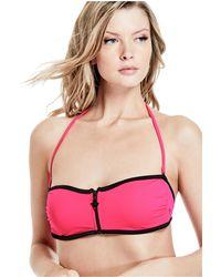 Guess - Zip Scuba Bandeau Bikini Top - Lyst