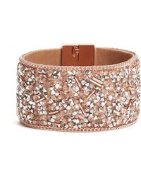 Guess - Rocky Crystal Wrap Bracelet - Lyst