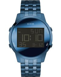 Guess - Blue Digital Chronograph Watch - Lyst