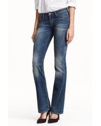 H&M Boot Cut Low Jeans - Blue