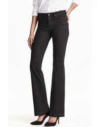 H&M Flare Regular Jeans - Black