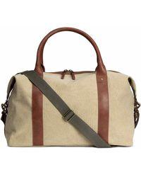 H&M Cotton Canvas Weekend Bag - Natural