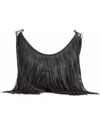 H&M Hobo Bag With Fringes - Black