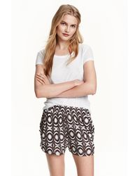 H&M Patterned Jersey Shorts - Grey