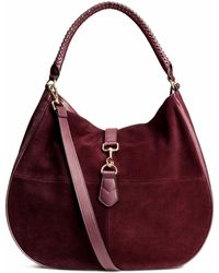H&M Hobo Bag With Suede Details - Multicolour