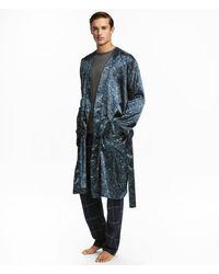 H&M - Satin Dressing Gown - Lyst