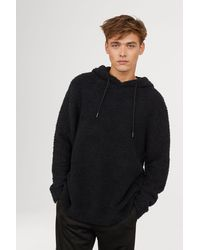 H&M - Pile Hooded Top - Lyst