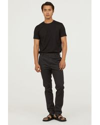 H&M - Premium Cotton T-shirt - Lyst