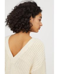H&M - Knitted Wool-blend Jumper - Lyst