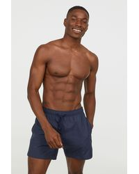H&M - Swim Shorts With Side Stripes - Lyst