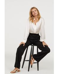 H&M - Jacquard-weave Trousers - Lyst