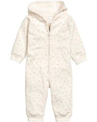 H&M Hooded All-in-one Suit - White