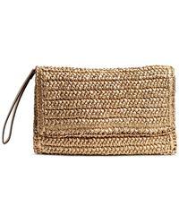 H&M Straw Clutch Bag - Metallic
