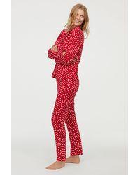 H&M - Patterned Pajamas - Lyst